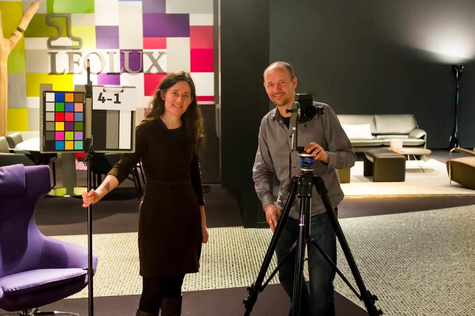 Marije and Redmar at work at Leolux Design Center